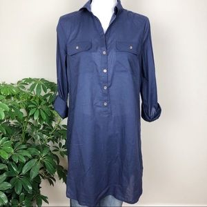 Lilly Pulitzer navy button down tunic
